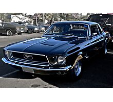 Black Ford Mustang Photographic Print
