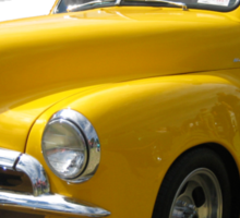 Yellow Holden FJ Utility Sticker