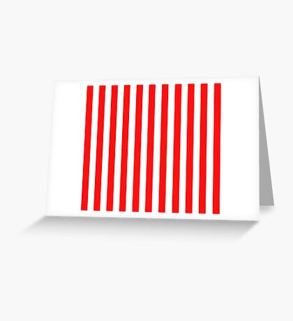 Red and White Striped Slimming Dress Greeting Card