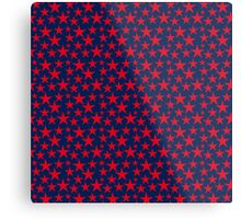Red stars on bold blue background Metal Print