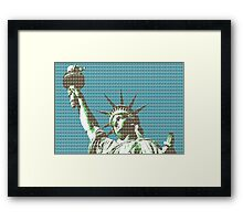 Liberty - dark Blue Framed Print