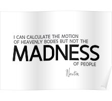 madness of people - isaac newton Poster
