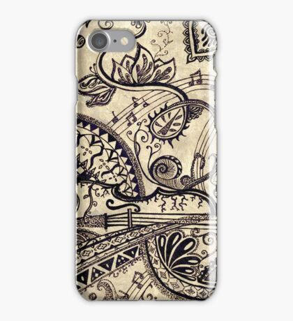 Coloured psychedelic violin  iPhone Case/Skin