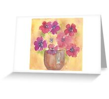 Pot of anemones Greeting Card