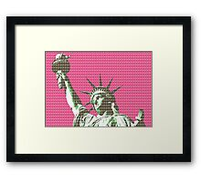 Liberty - Pink Framed Print