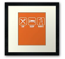 Eat Sleep Karate Framed Print