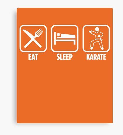 Eat Sleep Karate Canvas Print