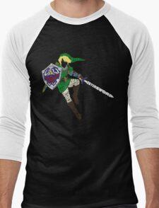 Link Typography Men's Baseball ¾ T-Shirt