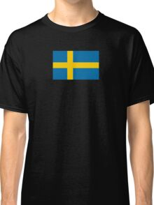 Swedish Flag T-Shirt - Sweden Sports Team Sticker Classic T-Shirt