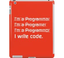I Write Code iPad Case/Skin