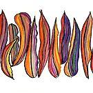 Pastel Art - Leaf Border by Georgie Sharp