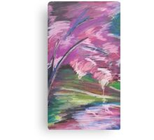 Oil Cherry Blossom Canvas Print