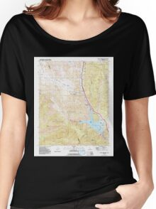 USGS TOPO Map California CA Black Mountain 299929 1991 24000 geo Women's Relaxed Fit T-Shirt