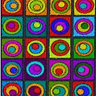 Colorful Cocentric Circles Abstract by gailg1957