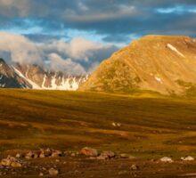 Golden Sunrise in Altai  Sticker