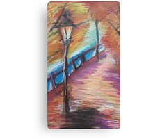 Oil Street Lamp Canvas Print