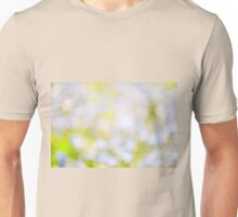 sparkles and circles bokeh abstract  Unisex T-Shirt