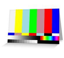 HD SMPTE TV Test Run Greeting Card