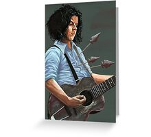 Blue Blood Blues Greeting Card
