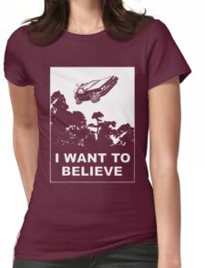 I believe in Delorean Womens Fitted T-Shirt