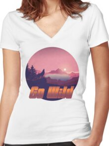 Wild Nature - Release your inner wilderness Women's Fitted V-Neck T-Shirt