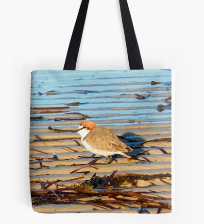Red-capped plover male Tote Bag
