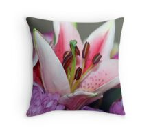 Exquisite lily Throw Pillow