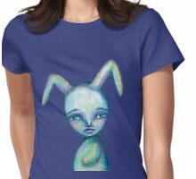 Cute bunny in the sky Womens Fitted T-Shirt