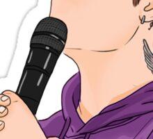 Justin Bieber Purple Sticker