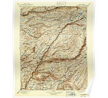 USGS TOPO Map California CA Big Trees 299225 1901 125000 geo Poster