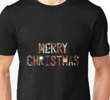 Colourful Merry Christmas Unisex T-Shirt