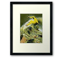 Garbage Wave Framed Print