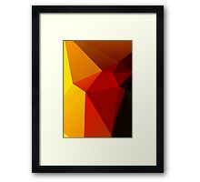 Abstract triangles. Framed Print