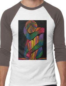 Sorrowful Shrug Vivid Female Abstract Men's Baseball ¾ T-Shirt