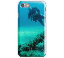 Diver And Big Anchor iPhone Case/Skin