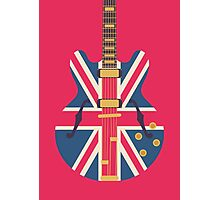 Oasis Union Jack Guitar (Crimson) Photographic Print