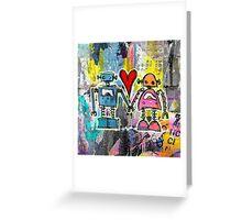 Graffiti Pop Robot Love Greeting Card