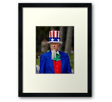 Uncle Sam at the St. Patrick's Day Parade Framed Print