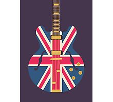 Oasis Union Jack Guitar (Black) Photographic Print