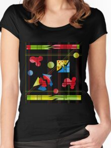 Playful day Women's Fitted Scoop T-Shirt