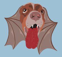 Bat Dog! Vampire Puppy Cartoon Monster Kids Tee