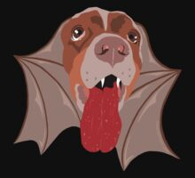 Bat Dog! Vampire Puppy Cartoon Monster Kids Tee