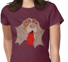 Bat Dog! Vampire Puppy Cartoon Monster Womens Fitted T-Shirt