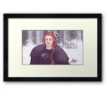 Queen in the north Framed Print