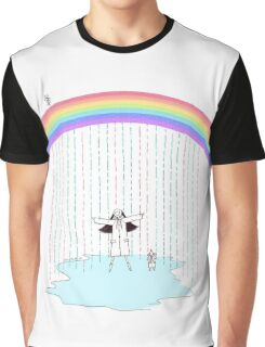 Rainbow Rain Graphic T-Shirt