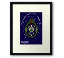 The egg-shaped universe Framed Print