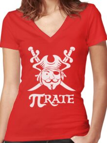 Pi Rate Shipped Women's Fitted V-Neck T-Shirt