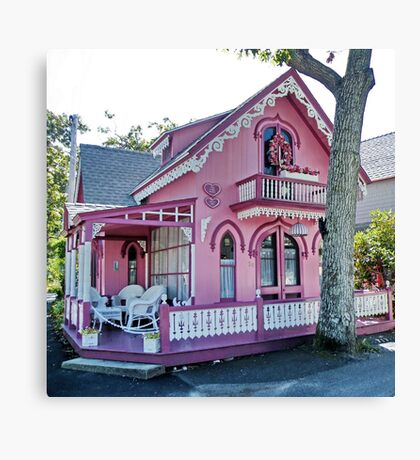 Pink Gingerbread House Canvas Print
