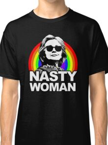 Hillary Clinton Nasty Woman Rainbow Classic T-Shirt