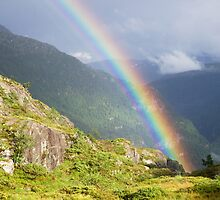 Rainbow in Vossafjella by Algot Kristoffer Peterson